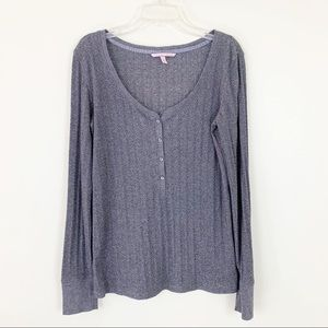 Victoria's Secret | Long Sleeve Metallic Henley